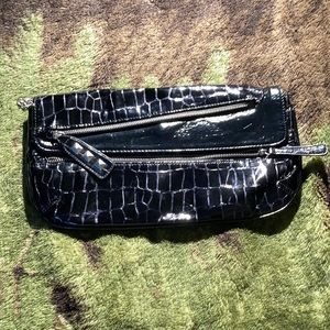 CHINESE LAUNDRY | croc design with studs oversized clutch
